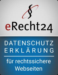 Datenschutzerklärung Siegel von erecht24